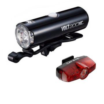 Lampa przednia i tylna zestaw Cateye HL-EL060 VOLT200XC/ TL-LD635 Rapid MINI 25LM