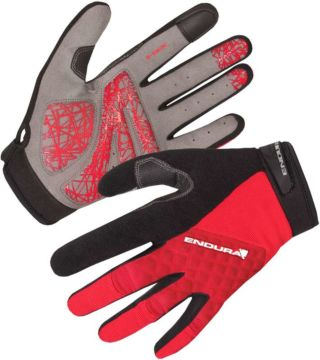 Rękawiczki rowerowe Endura Hummvee Plus czerwone