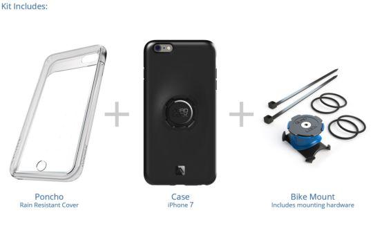 Uchwyt rowerowy z etui dla iPhone 7 Quad Lock